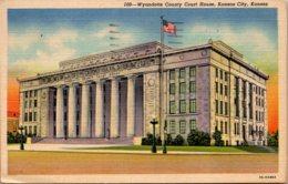 Kansas Kansas City Wyandotte County Court House 1956 Curteich - Kansas City – Kansas