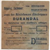 DURANDAL : Résistance électrique ,500 Watt, 220 Volt , Pour Réchaud Et Radiateur - Autres