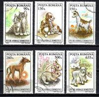 ROUMANIE JEUNES ANIMAUX DOMESTIQUES 1994 (185) N° Yvert 4217 à 4222 Oblitérés Used - Usati