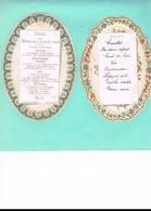 2 MENUS En Forme De Plat. Diner DU 4 JUILLET 1892. HOTEL DE FRANCE Pour Celui De Droite. - Menus
