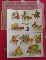 Décalcomanies 1960-70. Décors Douce France. Transfert Décalcomanie. Indiens Cow-boys Saloon Canoé Totem Rodéo - Vecchi Documenti