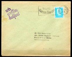 ALL-05 : Allemagne Reich Lettre FG Texte KARLSRUHE (BADEN) 1931 - Alemania