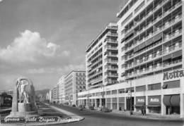 """7526 """" GENOVA-VIALE BRIGATE PARTIGIANE """" NEGOZIO MOTTA-AUTO ANNI '50-CART. POST. ORIG. SPED.1958 - Genova (Genoa)"""