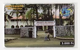 COMORES RECHARGE SNPT 3 000 FC UNIVERSITE DES COMORES - Comore