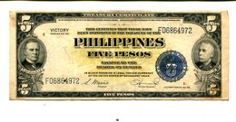 PHILIPPINES 5 PESOS VICTORY NOTE SERIES 66 XF 4.25 - Philippines