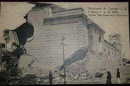 RO) 1910 CIRCA - COSTA RICA, CARTAGO EARTHQUAKE FROM 1910 - SINISTER, RUINS CHURCH SAN FRANCISCO -CONVENT. OLD POSTAL CA - Costa Rica