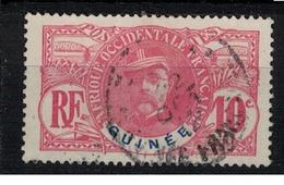 GUINEE          N°  YVERT   :  37   ( 4 )   OBLITERE       ( OB 07/28 ) - French Guinea (1892-1944)