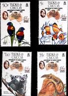 Turks & Caicos 1984  Darwin, Parrots,fish ,koala ,lizard I202003 - Turks And Caicos