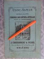 CATALOGUE CARROSSERIE VOITURE A CHEVAL FERRURE BOIS CINTRES OUTILLAGE CROISSANDEAU PICARD 38 RUE NEUVE ORLEANS 1870 - 1800 – 1899