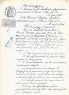 27 Août 1924 Acte Notarié étabit à Saint-Claude Avec Timbre Fiscal - Historical Documents