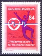Austria 1983 MNH, Medicine, Heart, Pacemaker, ECG - Medizin