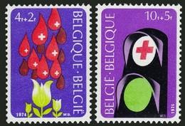 Belgium 1974 MNH 2v, Red Cross, Medical, Blood Donors - Krankheiten