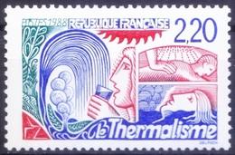 France 1988 MNH 1v, Thermalism, Sun Bath, Natural Medicine - Medicine