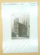 Staalgravure 'Stadhuis Leuven', Ca. 1860/ Steel Engraving 'City Hall Louvain' (B) - Estampes & Gravures