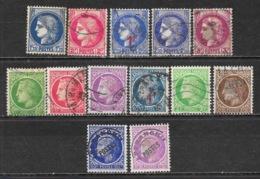 République Française, Série Type Céres, Céres Laurée De Mazelin 1945: Lot De 13 Timbres + Surcharges + Préoblitéré - 1945-47 Cérès De Mazelin