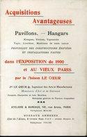 Paris Exposition 1900 Vieux Paris Le Coeur Acquisitions Avantageuses Pavillons Hangars 32 Pages 10x16cm - Publicités