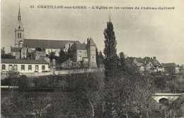 CHATILLON Sur LOIRE (Loiret) L'Eglise Et Les Ruines Du Chateau Gaillard  RV - Chatillon Sur Loire