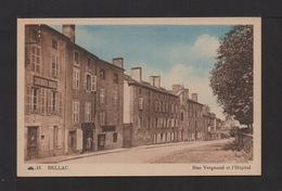 CPSM . 87 . BELLAC . Rue Vergnaud Et L'Hôpital . - Bellac