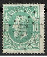 30  Obl  LP 355 Theux  + 15 - 1869-1883 Leopold II.