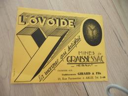 Buvard Original Thème Mines  Mines De Graissessac Hérault  Ovoïdes - Papel Secante