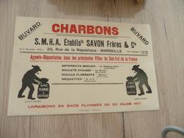 Buvard Original Thème Mines Charbon  S.M.H.A établissement Savon Marseille - Papel Secante