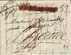 1804- Lettre De 40 / VENDOME  Pour Vicenze ( Italie ) MILANO / L.F. Encadré ( Lettera Forensi) - 1801-1848: Precursors XIX