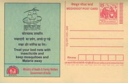 Ganzsache Indien Ministerium Für Gesundheit Wohlfahrt - Medizin
