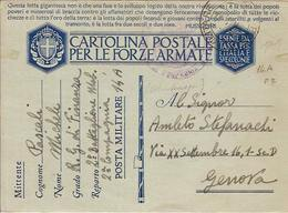 (CM).Franchigia Militare.Occupazione Del Montenegro.Posta Militare 14 Del 3 Nov 1941 (101-17) - Guerre 1939-45