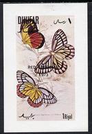 DHUFAR - Break-Away State - 1973 - Butterflies O/p Red Crescent 1973 - Souv Sheet - Mint Never Hinged - Sonstige - Asien