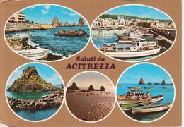 ACITREZZA - VEDUTINE MULTIVUES - SCORCI DEL MARE E BARCHE - PORTO - VIAGGIATA 1978 - Altre Città