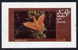 DHUFAR - Break-Away State - 1974 - Moths, Large Elephant Moth - Souv Sheet - Mint Never Hinged - Sonstige - Asien