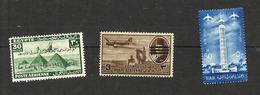 Egypte Poste Aérienne N°28A, 58, 85 Neufs** Cote 3.65 Euros - Poste Aérienne