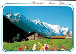 Chamonix Mont Blanc Panorama Sur La Chaine Du Mont Blanc    CPM Ou CPSM - Chamonix-Mont-Blanc