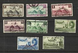 Egypte Poste Aérienne N°7, 23, 25, 27, 28A, 39, (49 Fendu Offert), 56 Cote 3.70 Euros - Poste Aérienne