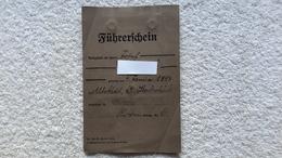 Führerschein Gleiwitz Kl. 2 + 3 1938 - 1939-45