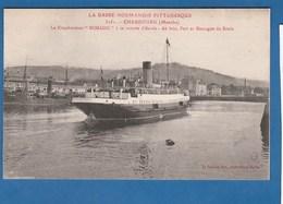 CHERBOURG LE TRANSBORDEUR NOMADIC A SA RENTREE D'ESCALE - Cherbourg