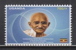 2019 Uganda **NEW ISSUE** Gandhi Birth Anniversary Complete Set Of 1 MNH - Uganda (1962-...)