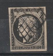 France Cérès N°3a Obl - 1849-1850 Cérès