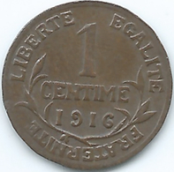 France - 1 Centime - 1916 - KM840 - France