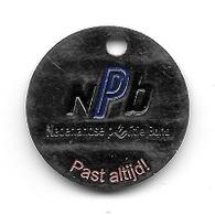Jeton De Caddie  étranger  Néerlandais,  N P B  Nederlandse  Plitie  Bond, Past  Altijd ! - Munten Van Winkelkarretjes
