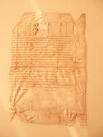 Parchemin Manuscrit En Peau - Manuscrits