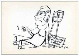 Illustrateur SINE - Dessin Antimilitariste- Caricature Militaire & Politique - MARIANNE PARALYSEE - Dessins De L'Express - Sine
