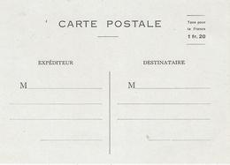 """1944- MARTINIQUE - Carte Postale E P  Sans Figurine """" Taxe Pour La France 1fr 20  """" - Guerre De 1939-45"""