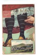 CPA 73 AIX LES BAINS Fantaisie Art Nouveau Carte à Système Dépliant Vues Jupon Jambes Femme 1917 Pas Courante - Aix Les Bains