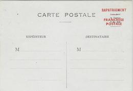 """1944-MARTINIQUE Carte Postale Sans Figurine """" Taxe Pour La France 1fr 20  """" Surcharge RAPATRIEMENT / Franchise Postale """" - Guerre De 1939-45"""