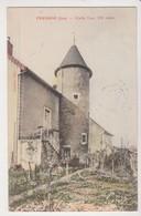 27716 FRAISANS 39 Cpa Vieille Tour -ed Jouffroy- Colorisée Jardin - France