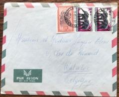 LETTRE CONGO BELGE + CONGO République MIXTE COB293 ( Val 1/8/1960) + COB407 D'ELISABETHVILLE 20.11.1964-> Belgique - Congo - Kinshasa