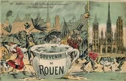 ROUEN - Le Pot De Chambre De La Normandie, Lot De Six Cartes. - Rouen