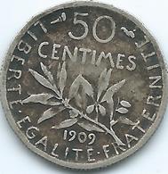 France - 1909 - 50 Centimes - KM854 - France