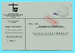 Brief Camp Militaire D'Internement Suisse Roggwil - Cartas